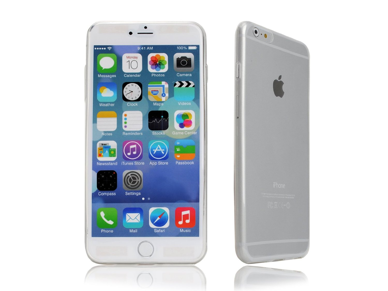 cover ultrasottile iPhone 5 0.3mm bianca custodia trasparente