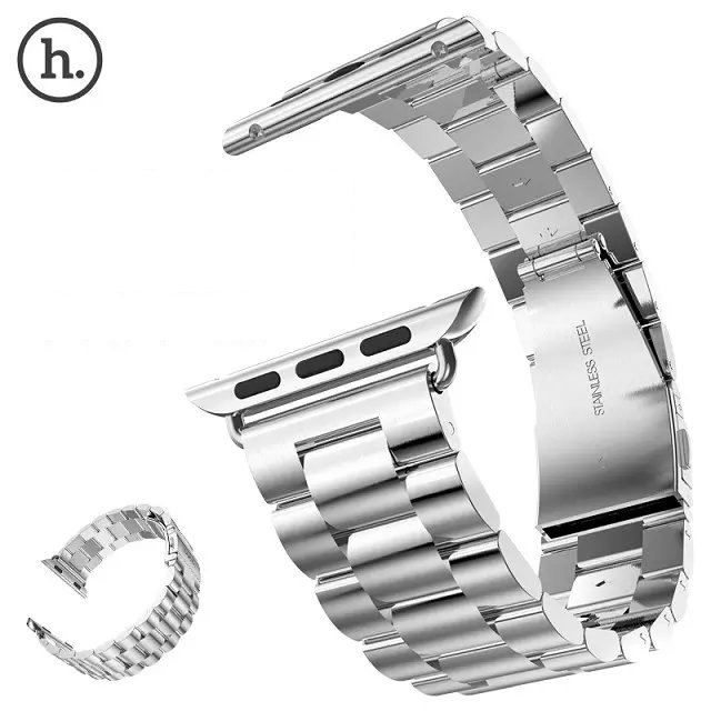 AW013-2015-Silver-Stainless-Steel-strap-For-apple-watch-Metal-band-adapter-Connector-38-42mm-TPU