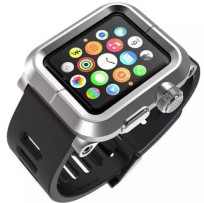 Armour-Aluminum-Shell-for-Apple-Watch-Case-Fit-3-Model-Silicone-Watch-Band-and-Metal-Frame