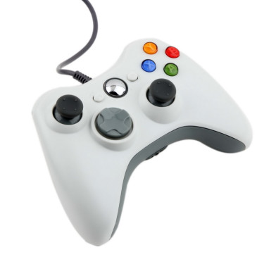 1pcs-USB-Wired-Joypad-Gamepad-white-Controller-For-Microsoft-for-Xbox-Slim-for-360-PC-for