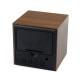 Mini-Cube-Style-Digital-LED-Rosso-Scrivania-di-Legno-di-Allarme-Marrone-Orologio-di-Controllo-Vocale-3