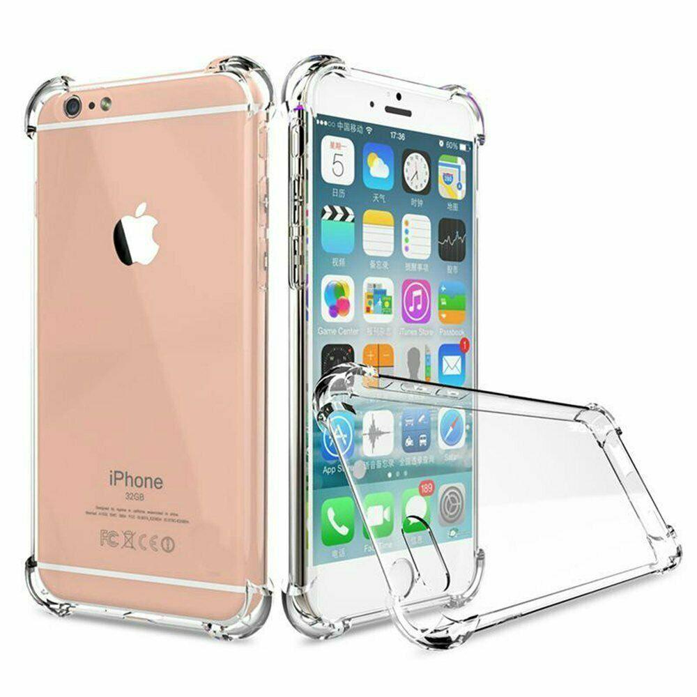 COVER Custodia Morbida TRASPARENTE Anti-Shock GEL Silicone per Apple iPhone 6 6S
