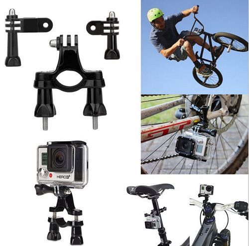 Gopro-SJ4000-Accessories-3-Ways-Pivot-Arm-Bicycle-Bike-Holder-Handlebar-Seatpost-Mount-For-Hero-4