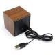 Mini-Cube-Style-Digital-LED-Rosso-Scrivania-di-Legno-di-Allarme-Marrone-Orologio-di-Controllo-Vocale-1