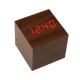 Mini-Cube-Style-Digital-LED-Rosso-Scrivania-di-Legno-di-Allarme-Marrone-Orologio-di-Controllo-Vocale-2