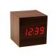 Mini-Cube-Style-Digital-LED-Rosso-Scrivania-di-Legno-di-Allarme-Marrone-Orologio-di-Controllo-Vocale-4