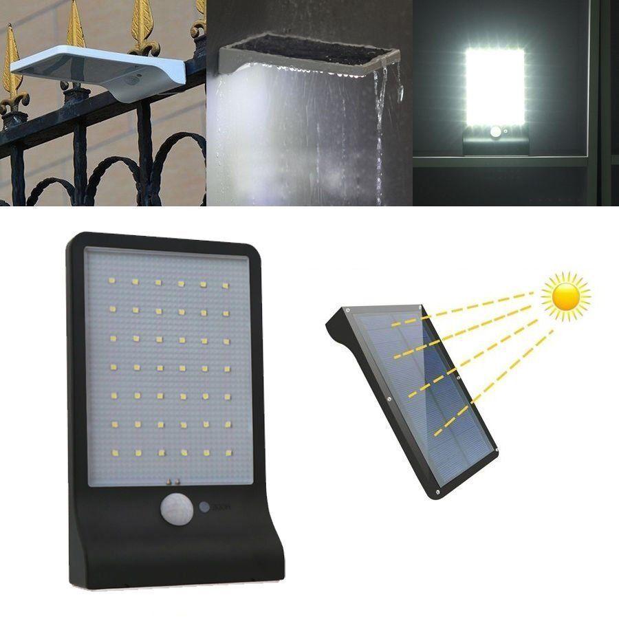 LAMPADA LED SOLARE DA ESTERNO GIARDINO FARETTO FOTOVOLTAICO SENSORE A 20 LED