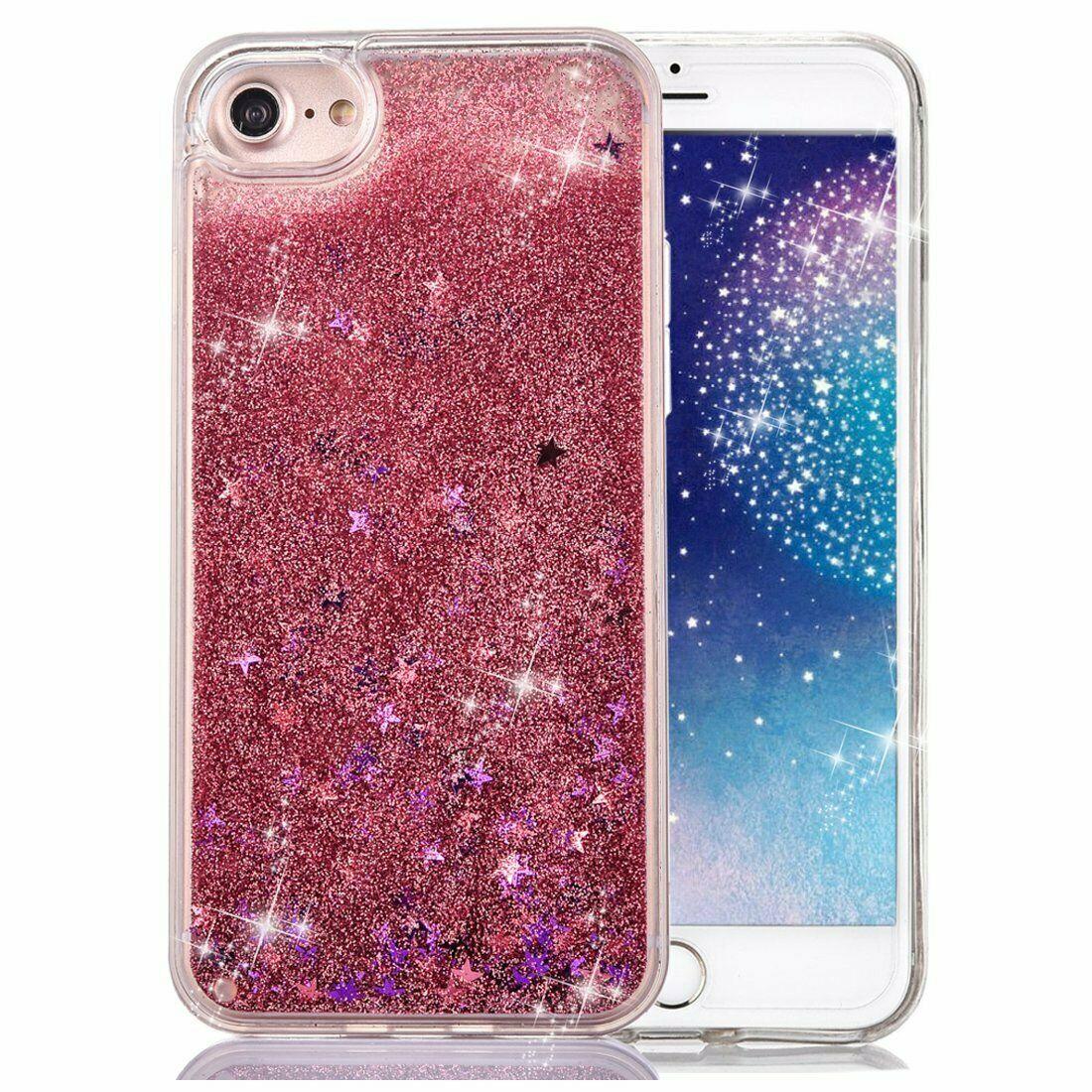 COVER Custodia Glitter Morbida Silicone GEL STRASS per Apple