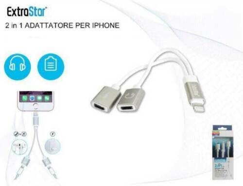 Adattatore per cuffie per iPhone 8 Lightening cavo